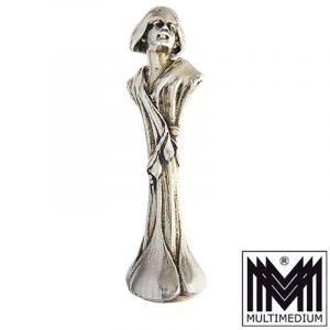Jugendstil Silber Petschaft Mädchen Art Nouveau silver seal girl