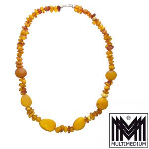 Butterscotch Natur Bernsteinkette real amber necklace Halskette 37,7g