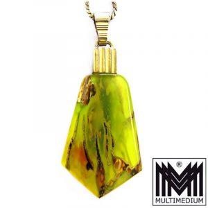 Art Deco Anhänger Ikora Glas Schmuck WMF mit Kette myra