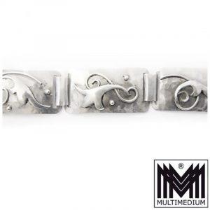 Art Deco Designer Armband Silber 900 Handarbeit