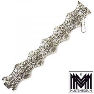 Jugendstil Armband Silber durchbrochen gearbeitet art nouveau silver bracelet
