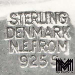 N.E. Nils Erik From Denmark Anhänger Silber Modernist Rosenquarz silver pendant