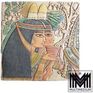 Wand Tafel Wand Relief Isis Kunst Ägypten Tawosret Hatschepsut Theben Kunstguß