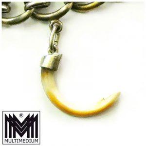 Charivari antik Silber Kette mit Anhänger Grandel silver charivari chain pendant