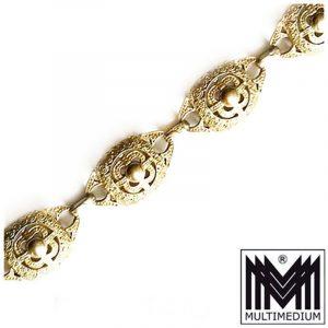 Art Deco Theodor Fahrner Pforzheim Silber Armband vergoldet silver gilt bracelet