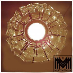 70er Jahre Decken Lampe Decken Leuchte verchromt Kinkeldey