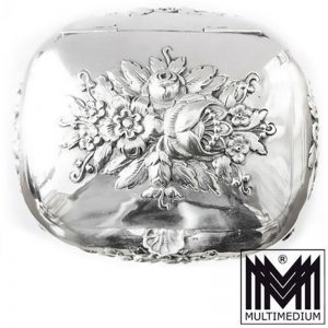 Biedermeier Historismus 13 Lot Silber Zucker Dose um1860 silver sugar box