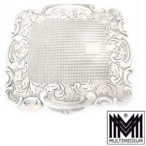 Jugendstil Silber Puderdose Spiegel art nouveau silver compact powder box mirror