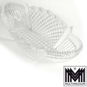 Große Jugendstil Art Deco Kristall Glas Schale Jardiniere geschliffen glass bowl