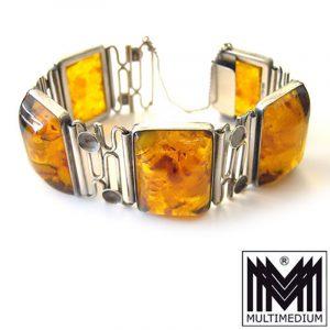 Fischland Schmuck Silber Armband Bernstein signiert amber silver bracelet signed