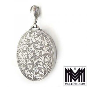 Jugendstil Silber Medaillon art nouveau silver locket