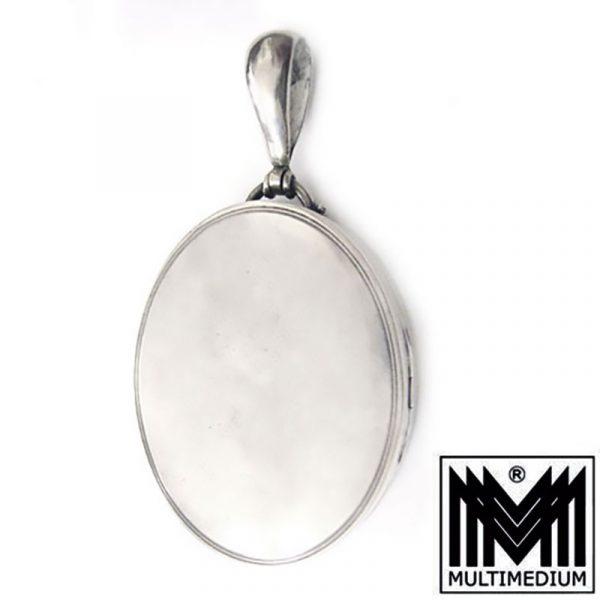 Historismus Silber Medaillon art nouveau silver locket Victorian