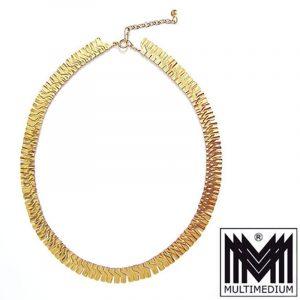 - VERKAUFT - alte 585er Gelb Gold Halskette Collier vintage necklace 14kt 39,5 cm Damen