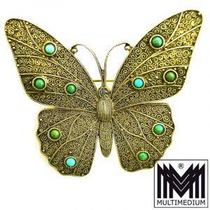 Art Deco Silberbrosche Schmetterling Theodor Fahrner silver butterfly