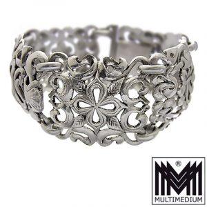 Breites Jugendstil Silber Armband Frankreich Antik silver bracelet
