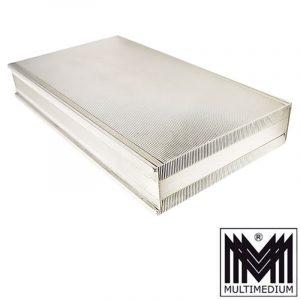 Art Deco Silber Dose, Zigaretten Schatulle silver cigarette case box
