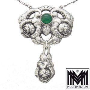 Jugendstil Silber Collier A. Odenwald Pforzheim sign. silver necklace