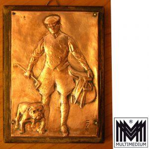-VERKAUFT- Jugendstil-Plakette Ludwig Hohlwein um 1910