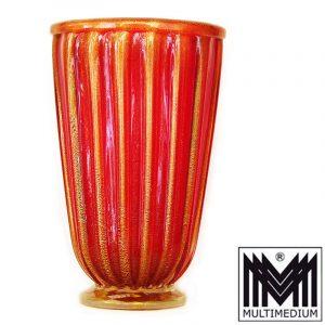 Große Vase Murano, sign.