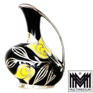 -VERKAUFT- Porzellan Vase Silber Auflage silver overlay
