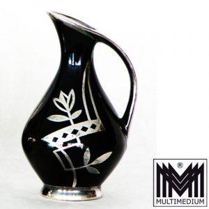 Porzellan Vase Silber Auflage silver overlay
