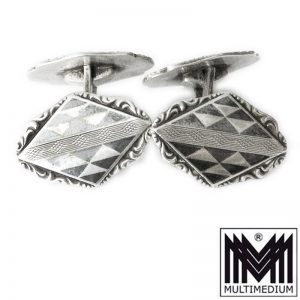 -VERKAUFT- Manschettenknöpfe, Art Deco, Silber