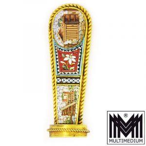Millefiori Mikromosaik Historismus Petschaft vergoldet 1860 micro mosaic seal