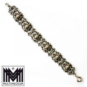 Historismus Neorenaissance Silber Armband Putto