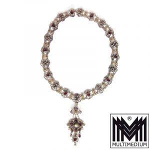 Historismus Silber Halskette Neo-Renaissance 1880
