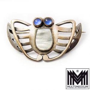 Art Nouveau Butterfly Brooch Gablonz Bohemia